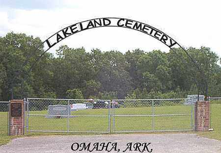 *LAKELAND CEMETERY GATE,  - Boone County, Arkansas |  *LAKELAND CEMETERY GATE - Arkansas Gravestone Photos