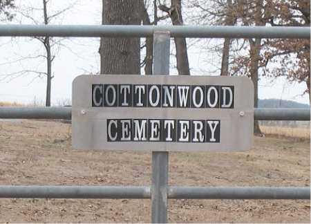 *COTTONWOOD CEMETERY SIGN,  - Boone County, Arkansas |  *COTTONWOOD CEMETERY SIGN - Arkansas Gravestone Photos