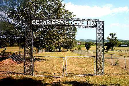 *CEDAR GROVE CEMETERY GATE,  - Boone County, Arkansas |  *CEDAR GROVE CEMETERY GATE - Arkansas Gravestone Photos