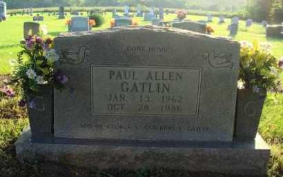 GATLIN, PAUL ALLEN - Boone County, Arkansas | PAUL ALLEN GATLIN - Arkansas Gravestone Photos