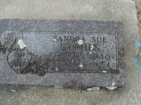 GERDES, SANDRA SUE - Boone County, Arkansas | SANDRA SUE GERDES - Arkansas Gravestone Photos