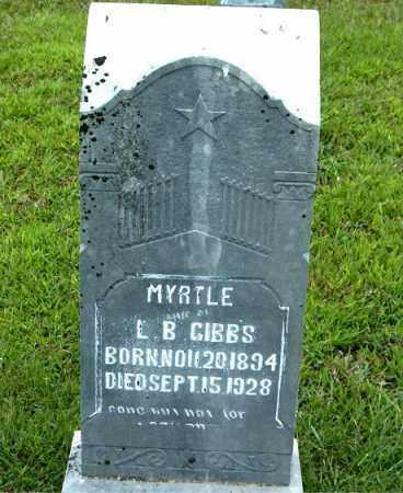 GIBBS, MYRTLE - Boone County, Arkansas | MYRTLE GIBBS - Arkansas Gravestone Photos