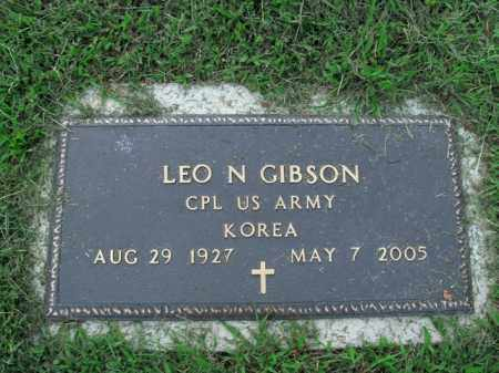 GIBSON  (VETERAN KOR), LEO N - Boone County, Arkansas | LEO N GIBSON  (VETERAN KOR) - Arkansas Gravestone Photos