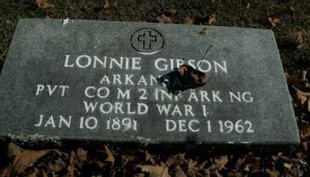 GIBSON  (VETERAN WWI), LONNIE - Boone County, Arkansas | LONNIE GIBSON  (VETERAN WWI) - Arkansas Gravestone Photos