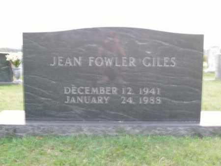 FOWLER GILES, JEAN - Boone County, Arkansas | JEAN FOWLER GILES - Arkansas Gravestone Photos
