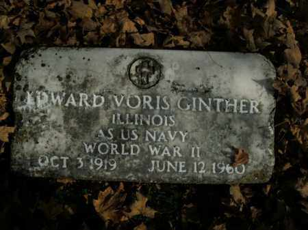 GINTHER (VETERAN WWII), EDWARD VORIS - Boone County, Arkansas | EDWARD VORIS GINTHER (VETERAN WWII) - Arkansas Gravestone Photos