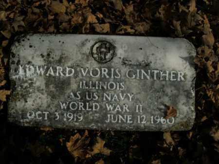 GINTHER (VETERAN WWII), EDWARD VORIS - Boone County, Arkansas   EDWARD VORIS GINTHER (VETERAN WWII) - Arkansas Gravestone Photos