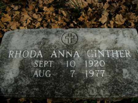 GINTHER, RHODA ANNA - Boone County, Arkansas | RHODA ANNA GINTHER - Arkansas Gravestone Photos