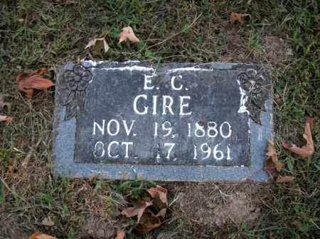 GIRE, E.C. - Boone County, Arkansas | E.C. GIRE - Arkansas Gravestone Photos