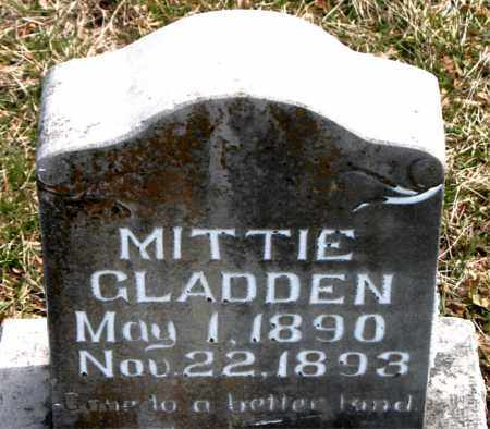 GLADDEN, MITTIE - Boone County, Arkansas | MITTIE GLADDEN - Arkansas Gravestone Photos