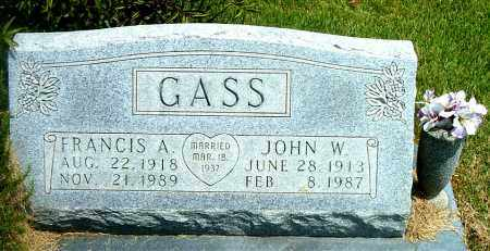 GASS, JOHN W. - Boone County, Arkansas | JOHN W. GASS - Arkansas Gravestone Photos
