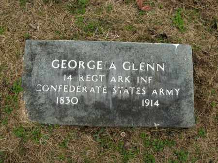 GLENN  (VETERAN CSA), GEORGE A - Boone County, Arkansas | GEORGE A GLENN  (VETERAN CSA) - Arkansas Gravestone Photos