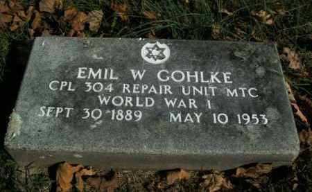 GOHLKE  (VETERAN WWI), EMIL W - Boone County, Arkansas | EMIL W GOHLKE  (VETERAN WWI) - Arkansas Gravestone Photos