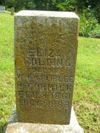 MCCORMICK GOLDING, ELIZA - Boone County, Arkansas | ELIZA MCCORMICK GOLDING - Arkansas Gravestone Photos