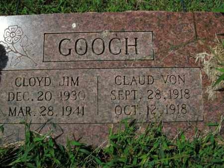 GOOCH, CLAUD VON - Boone County, Arkansas | CLAUD VON GOOCH - Arkansas Gravestone Photos