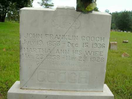 GOOCH, JOHN FRANKLIN - Boone County, Arkansas | JOHN FRANKLIN GOOCH - Arkansas Gravestone Photos