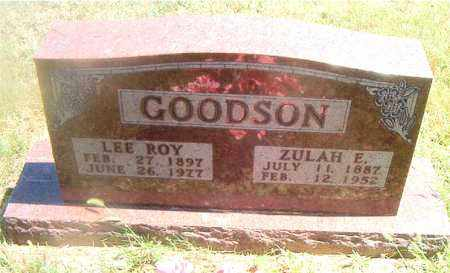 GOODSON, ZULAH E. - Boone County, Arkansas | ZULAH E. GOODSON - Arkansas Gravestone Photos