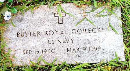GORECKE  (VETERAN), BUSTER ROYAL - Boone County, Arkansas | BUSTER ROYAL GORECKE  (VETERAN) - Arkansas Gravestone Photos