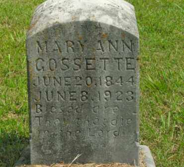 GOSSETTE, MARY ANN - Boone County, Arkansas | MARY ANN GOSSETTE - Arkansas Gravestone Photos