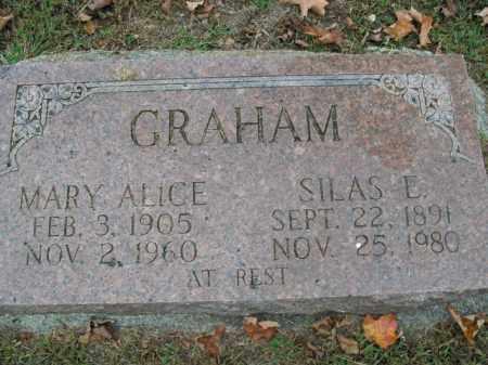 GRAHAM, MARY ALICE - Boone County, Arkansas | MARY ALICE GRAHAM - Arkansas Gravestone Photos