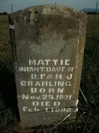 GRAMLING, MATTIE - Boone County, Arkansas | MATTIE GRAMLING - Arkansas Gravestone Photos