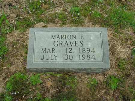 GRAVES, MARION ERASTUS - Boone County, Arkansas | MARION ERASTUS GRAVES - Arkansas Gravestone Photos