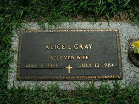 GRAY, ALICE L. - Boone County, Arkansas | ALICE L. GRAY - Arkansas Gravestone Photos