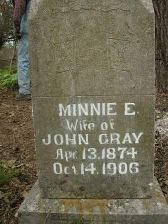 GRAY, MINNIE E. - Boone County, Arkansas | MINNIE E. GRAY - Arkansas Gravestone Photos