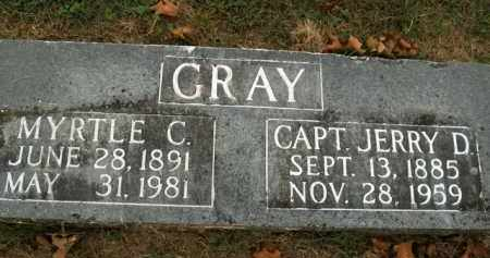 GRAY, JERRY D. (CAPTAIN) - Boone County, Arkansas | JERRY D. (CAPTAIN) GRAY - Arkansas Gravestone Photos