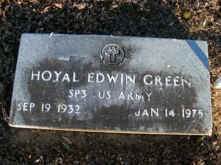 GREEN  (VETERAN), HOYAL EDWIN - Boone County, Arkansas | HOYAL EDWIN GREEN  (VETERAN) - Arkansas Gravestone Photos