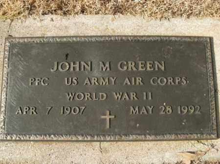 GREEN  (VETERAN WWII), JOHN M - Boone County, Arkansas | JOHN M GREEN  (VETERAN WWII) - Arkansas Gravestone Photos