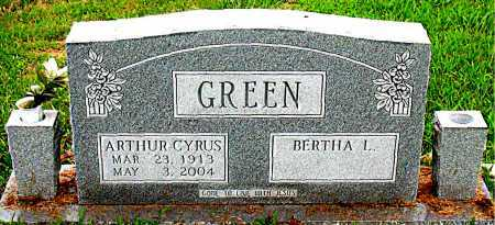 GREEN, ARTHUR CYRUS - Boone County, Arkansas | ARTHUR CYRUS GREEN - Arkansas Gravestone Photos