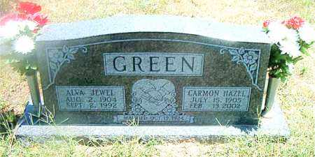 GREEN, CARMON HAZEL - Boone County, Arkansas | CARMON HAZEL GREEN - Arkansas Gravestone Photos
