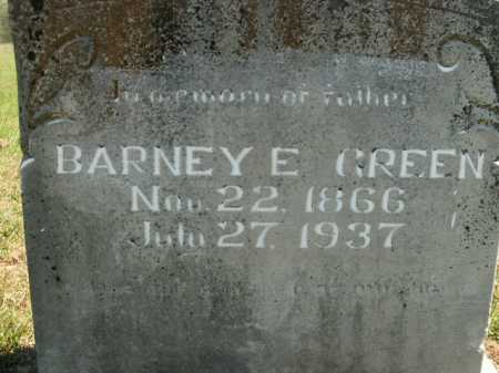 GREEN, BARNEY E. - Boone County, Arkansas | BARNEY E. GREEN - Arkansas Gravestone Photos