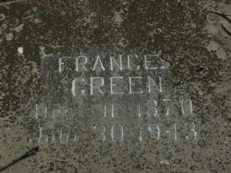 GREEN, FRANCES - Boone County, Arkansas | FRANCES GREEN - Arkansas Gravestone Photos