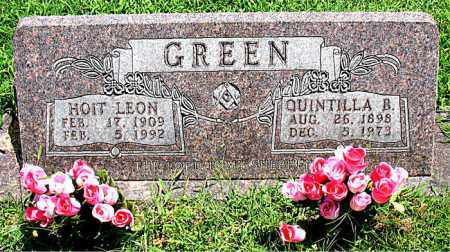 GREEN, QUINTILLA B. - Boone County, Arkansas | QUINTILLA B. GREEN - Arkansas Gravestone Photos