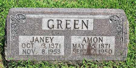 GREEN, JANEY - Boone County, Arkansas | JANEY GREEN - Arkansas Gravestone Photos