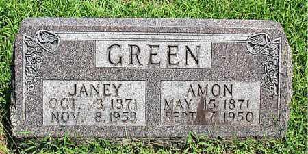 GREEN, AMON - Boone County, Arkansas | AMON GREEN - Arkansas Gravestone Photos