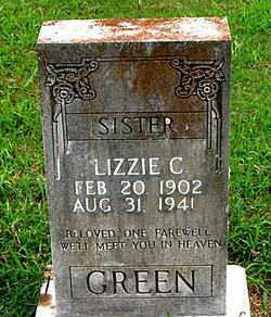 GREEN, LIZZIE C. - Boone County, Arkansas | LIZZIE C. GREEN - Arkansas Gravestone Photos