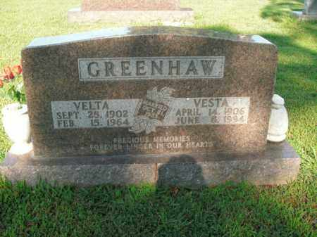 GREENHAW, VELTA - Boone County, Arkansas | VELTA GREENHAW - Arkansas Gravestone Photos