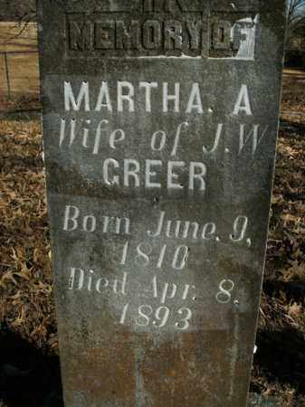 GREER, MARTHA A. - Boone County, Arkansas | MARTHA A. GREER - Arkansas Gravestone Photos