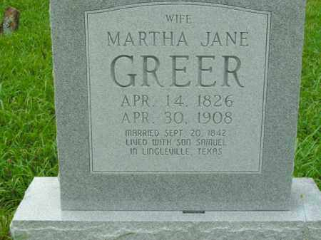 GREER, MARTHA JANE - Boone County, Arkansas | MARTHA JANE GREER - Arkansas Gravestone Photos