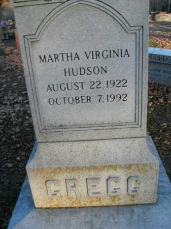 HUDSON GREGG, MARTHA VIRGINIA - Boone County, Arkansas | MARTHA VIRGINIA HUDSON GREGG - Arkansas Gravestone Photos