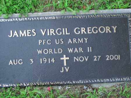 GREGORY  (VETERAN WWII), JAMES VIRGIL - Boone County, Arkansas | JAMES VIRGIL GREGORY  (VETERAN WWII) - Arkansas Gravestone Photos