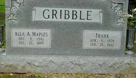GRIBBLE, FRANK - Boone County, Arkansas | FRANK GRIBBLE - Arkansas Gravestone Photos