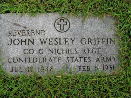 GRIFFIN  (VETERAN CSA), JOHN WESLEY - Boone County, Arkansas | JOHN WESLEY GRIFFIN  (VETERAN CSA) - Arkansas Gravestone Photos