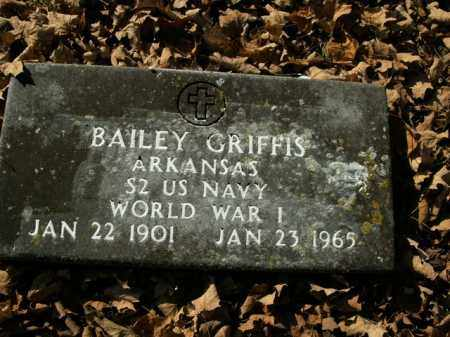 GRIFFIS  (VETERAN WWI), DEROSS BAILEY - Boone County, Arkansas | DEROSS BAILEY GRIFFIS  (VETERAN WWI) - Arkansas Gravestone Photos