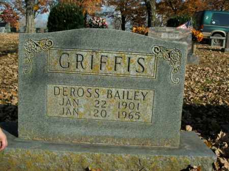 GRIFFIS, DEROSS BAILEY - Boone County, Arkansas | DEROSS BAILEY GRIFFIS - Arkansas Gravestone Photos