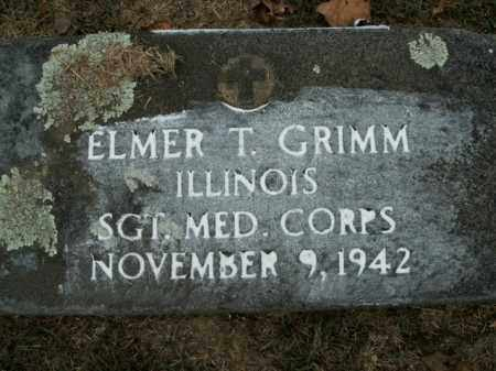 GRIMM  (VETERAN), ELMER T - Boone County, Arkansas | ELMER T GRIMM  (VETERAN) - Arkansas Gravestone Photos