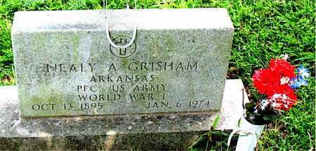 GRISHAM  (VETERAN WWI), NEALY AUSTIN - Boone County, Arkansas | NEALY AUSTIN GRISHAM  (VETERAN WWI) - Arkansas Gravestone Photos